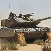 An Israel Defense Force Magach 7 Main Art Print