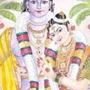 Andal Krishna Art Print by Parimala Devi Namasivayam