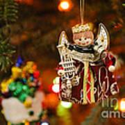 Angel Christmas Ornament Art Print