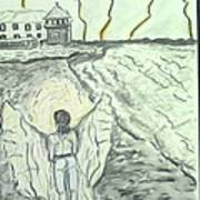 Angel In A Storm Art Print
