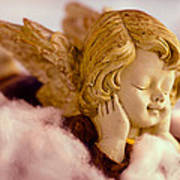 Angel Resting On Clouds And Enjoying The Sun Art Print