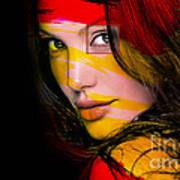 Angleina Jolie Art Print