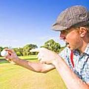 Angry Golf Art Print