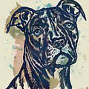 Animal Pop Art Etching Poster - Dog - 4 Art Print