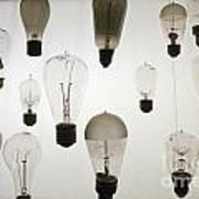 Antique Light Bulbs Art Print