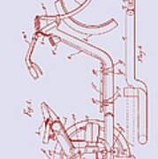 Antique Motorcycle Patent 1921 Art Print