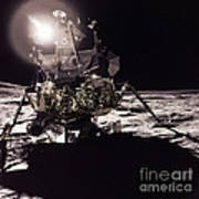 Apollo 17 Moon Landing Art Print by Science Source