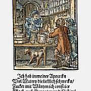 Apothecary, 1568 Art Print
