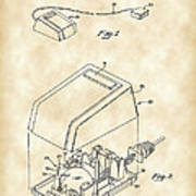 Apple Mouse Patent 1984 - Vintage Art Print