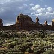 Arches National Park Sunrise Rock Formations  Art Print