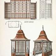 Architecture In Wood, C.1900 Art Print