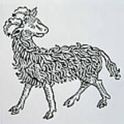 Aries An Illustration From The Poeticon Art Print