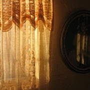Art Homage Edward Hopper Winter Light Window Curtain Reflection Bedroom Casa Grande Arizona 2005 Art Print