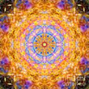 Sun Sparkle Mandala  Art Print