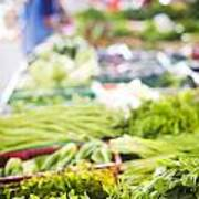 Asian Market Vegetable Art Print by Tuimages