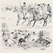 At A Deer Hunt On Exmoor Art Print