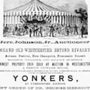 Auction Advertisement Art Print