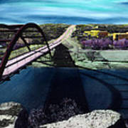 Austin 360 Bridge Art Print