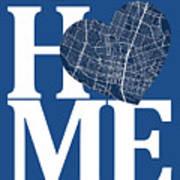 Austin Street Map Home Heart - Austin Texas Road Map In A Heart Art Print