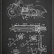 Automatic Motorcycle Stand Retractor Patent Drawing From 1940 Art Print by Aged Pixel