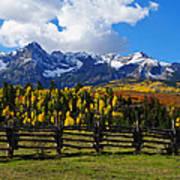 Autumn Fences Art Print