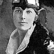 Aviator Amelia Earhardt No Date-2010 Art Print