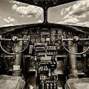 Cockpit Of A B-17 Art Print