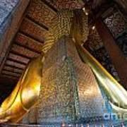 Back View Of Reclining Buddha Art Print