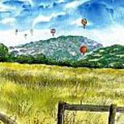 Balloon Race Art Print