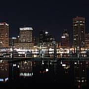 Baltimore Skyline At Night Art Print