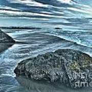 Bandon Beach Swirls Art Print