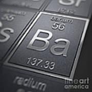 Barium Chemical Element Art Print