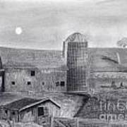 Barn And Silo Art Print