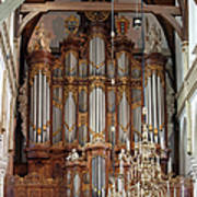 Baroque Grand Organ In Oude Kerk In Amsterdam Art Print