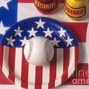 Baseball Dinner Art Print