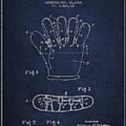 Baseball Glove Patent Drawing From 1922 Art Print