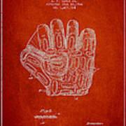 Baseball Glove Patent Drawing From 1924 Art Print