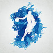 Basketball Player Art Print by Aged Pixel