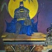 Batman On The Roof Top Art Print