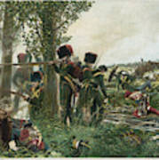 Battle Of Waterloo Troops Of The Nassau Art Print