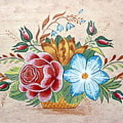 Bavarian Floral  Art Print by Brenda Ruark