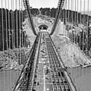 Bay Bridge Under Construction Art Print