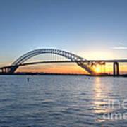 Bayonne Bridge Sunset Art Print