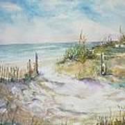 Beach Fence Art Print by Dorothy Herron