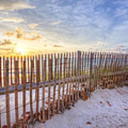 Beach Fences Art Print