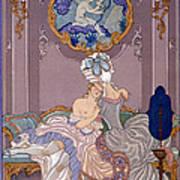Bedroom Scene Print by Georges Barbier