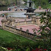 Bethesda Fountain - Central Park Nyc Art Print