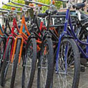 Bicycles In Amsterdam Art Print