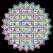 1 Billion Dollars Geometric Black Art Print