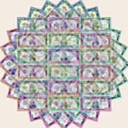 1 Billion Dollars Geometric Tan Art Print